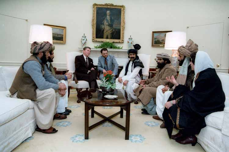 Afghan Mujahideen Commanders meet with President Ronald Reagan
